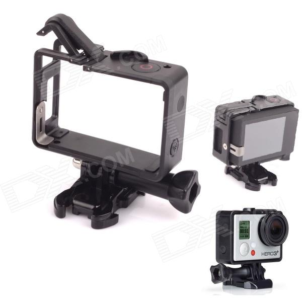 PANNOVO Portable Plastic Fixed Frame Case w/ Bacpac Installation Elongated Arm for Gopro Hero 4/ 3 / 3+