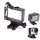 PANNOVO Portable Plastic Fixed Frame Case w/ Bacpac Installation Elongated Arm for GoPro Hero 3 / 3+