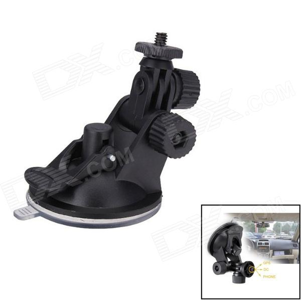 Car Suction Cup Mount TrIPOD Holder for GPS / Camera / GoPro - Black