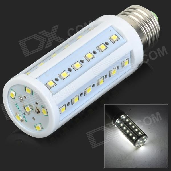 ZDM E27 6W 600lm 7500K 42-2835 SMD LED Cool White Light Maize Lampa-Vit + Silver (AC 220V)