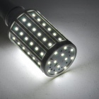 ZDM E27 11W 1050lm 7500K 72-2835 SMD LED Cool White Light Maize Lamp - White + Silver (AC 220V)