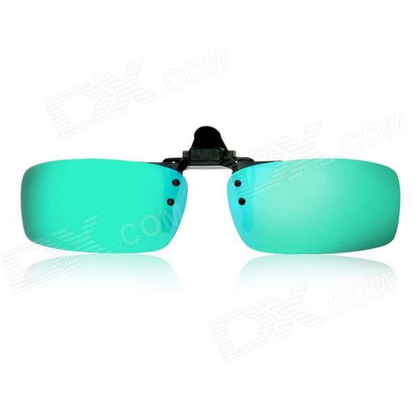 OREKA Clip-on Polaroid Polarized Resin Lens Sports Sunglasses - Green REVO