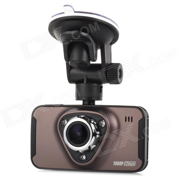 M7 2.7 TFT 1/4 CMOS 3.0MP 170 Degrees Wide Angle Car DVR w/ 3-IR-LED / G-Sensor - Black + Coffee