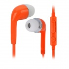 J5 3.5mm Jack In-Ear Earphone w/ Mic. for Samsung Galaxy S5 - Orange (115cm)