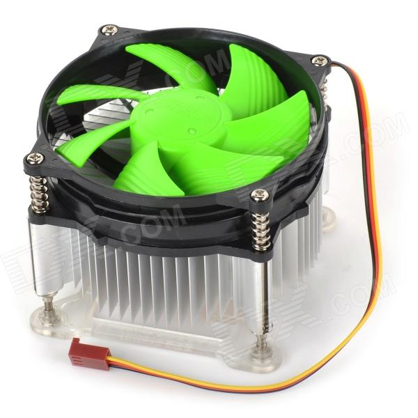 C205 Replacement CPU Fan Cooler w/ Heatsink for Intel LGA1155 + More - Black + Green (DC 10.8~13.2V) for asus u46e heatsink cooling fan cooler