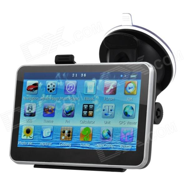 4.3 Resistive Screen Win CE 6.0 Car GPS Navigator w/ TF / FM / Mic. - Black (Multinational) корпус in win pe689bl 600w black