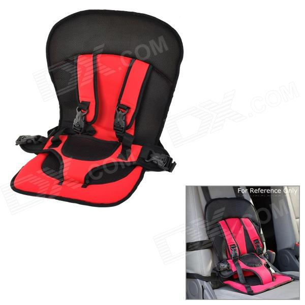 Children's Multi-functional Portable Car Safety Harness Seat Cover Cushion - Black + Red