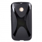 """X"" Style Protective TPU Back Case for Moto E - Black"