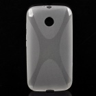 ''X'' Style Protective TPU Back Case for Moto E - Translucent White - Cases and Protectors Cell Phones and Accessories