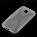 """X"" Style Protective TPU Back Case for Moto E - Translucent White"