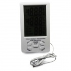 "TA298 4.5"" LCD Digital Hygrometer / Thermometer - White"