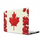 "RFH The Maple Leaf Pattern Protective Full Body Matte Case for MacBook Pro 13.3"" - Red + White"