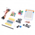 R-0002 Electronics Resistors + Capacitors + Switches + Bread Board Set for Arduino - Multicolored