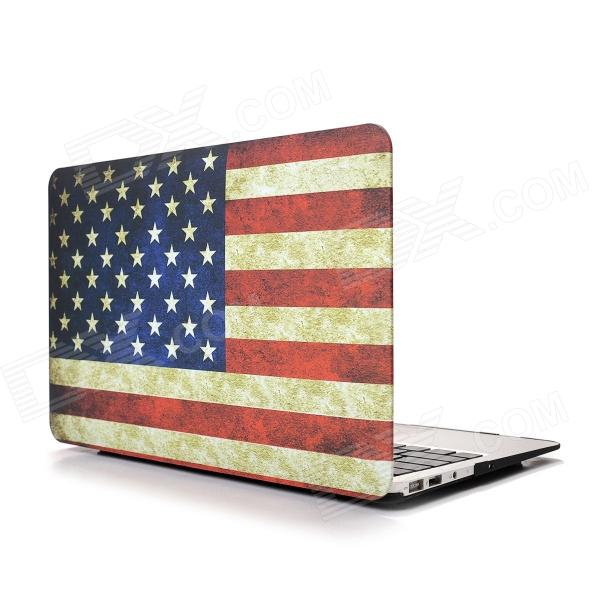 Hat-Prince USA Flag Pattern Protective Full Body Matte Case for MacBook Air 13.3