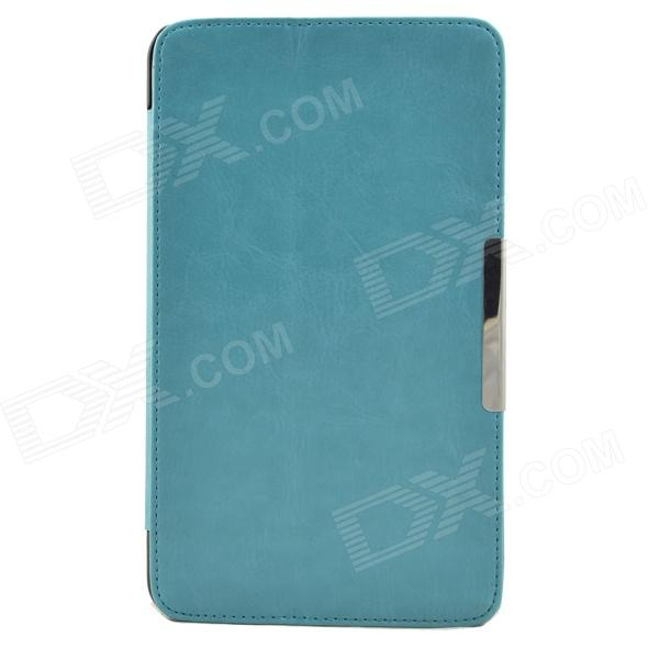 Protective PU Leather Case for Asus FE7010CG Pad - Light Blue single sided blue ccs foam pad by presta