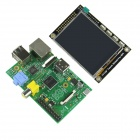 "Raspberry Pi Mode B Project Board (UK ver) + TFT - 2.8"" Touchscreen Display Module - Green + Black"