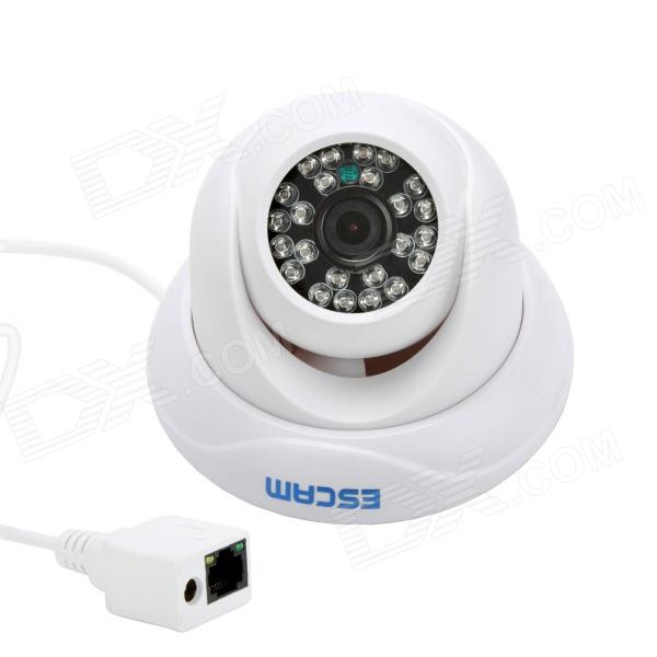 ESCAM Snail QD500 720P 1MP Wifi Waterproof Surveillance IP Camera w/ Night Vision – White (US Plug)