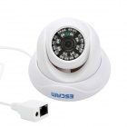 ESCAM Snail QD500 P2P 720P CMOS 3.6mm Lens Network IP Camera w/ 24-IR LED - White (US Plug)