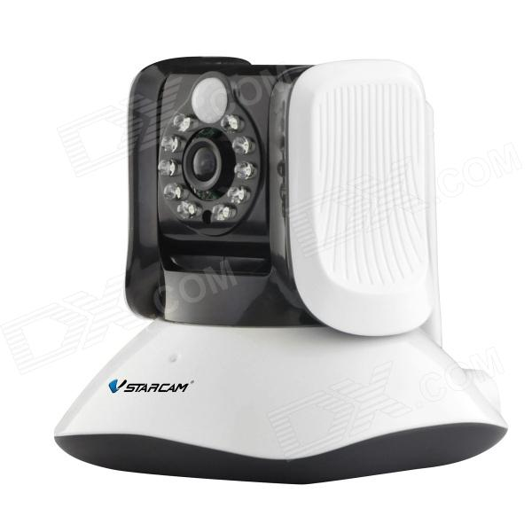 Vstarcam T7821WIP Human Infrared Sensor PIR 1.0 MP HD IP Alarm Camera w/ PTZ / Wi-Fi / P2P - White barrow tzs1 a02 yklzs1 t01 g1 4 white black silver gold acrylic water cooling plug coins can be used to twist the