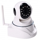 720P 1.3MP HD Wireless Network IP Camera w/ 11-IR LED / Wi-Fi / TF Slot - White