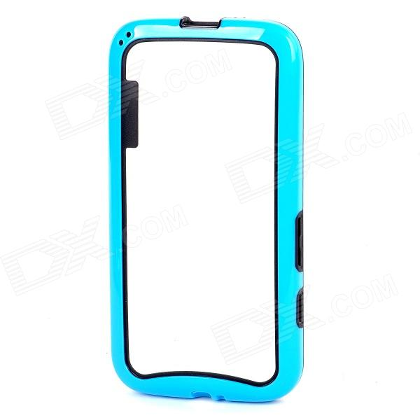 Protective TPU + PC Bumper Frame for Moto G Phone - Blue + Black protective tpu   pc bumper frame for lg