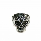 Skull Style Stainless Steel Finger Ring - Silver Black (U.S Size 9)