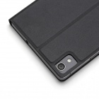 Rock Feather Smart Sleep Flip-open PU Leather Case Cover w/ Stand for HuaWei Ascend P7 - Black