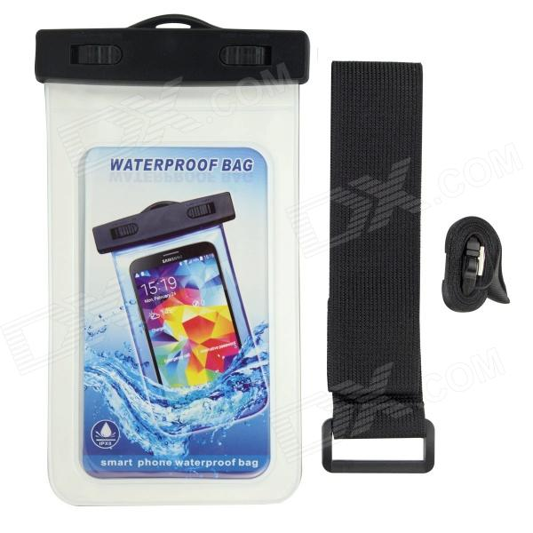 P92 Waterproof PVS + ABS Bag for Samsung Galaxy S3 / S4 - White + Black