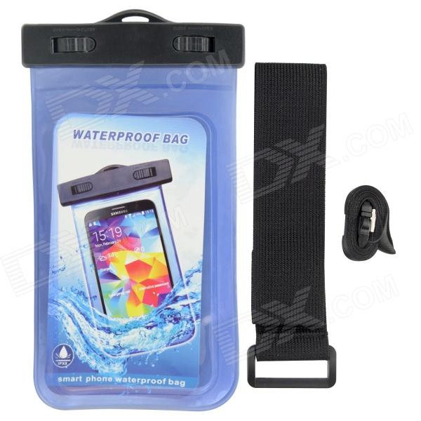 P92 Waterproof PVS + ABS Bag for Samsung Galaxy S3 / S4  - Translucent Blue