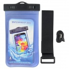 Waterproof PVS + ABS Bag for Samsung Galaxy S3 / S4  - Translucent Blue