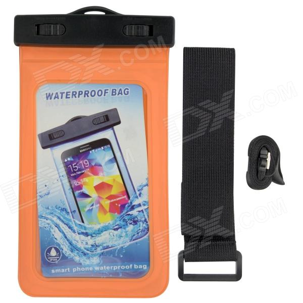 P92 Waterproof PVS + ABS Bag for Samsung Galaxy S3 / S4 - Orange + Black