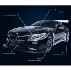 DX DX112408A 1:24 BMW Z4GT3 Charging Speed Drift Car Toy w/ Remote Control for Children - Black