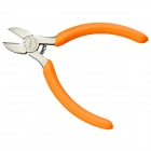 "JM-CT2 5"" American High-Strength Alloy + Rubber Diagonal Pliers - Orange + Silver"