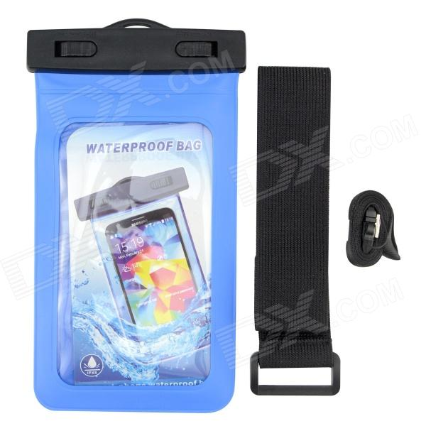 P92 Waterproof PVS + ABS Bag for Samsung Galaxy S3 / S4 - Blue  + Black