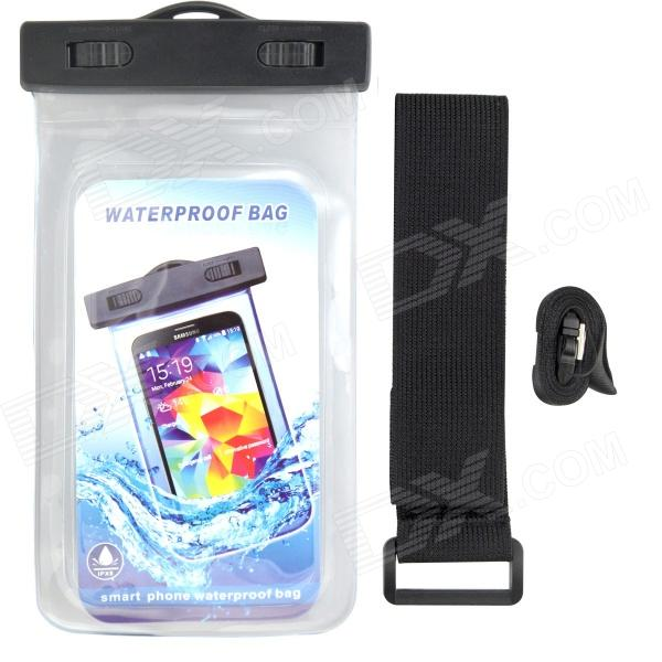 P92 Waterproof PVS + ABS Bag for Samsung Galaxy S3 / S4 - Transparent + Black