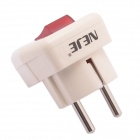 NEJE 16A 15.625W 250V German Side Wiring EU Plug w/ Switch - Beige