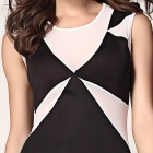 Classic Geometrical Bodycon Dress - Black