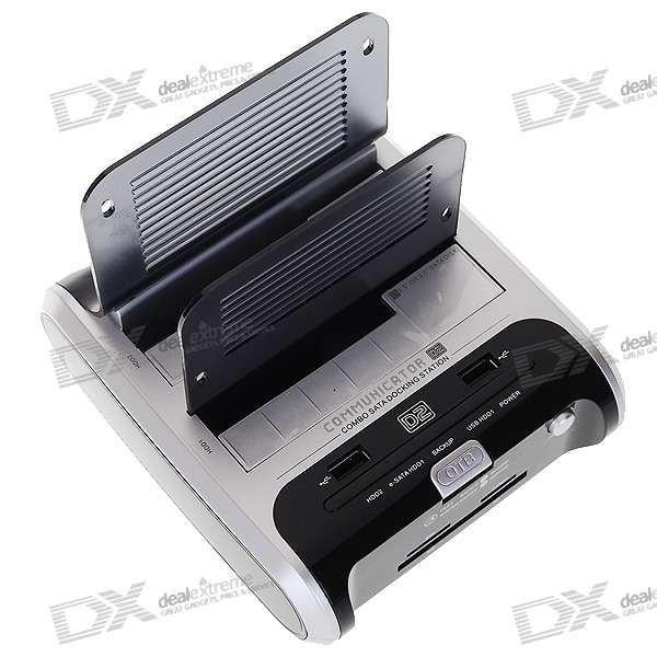 "Communicator D2 Combo HDD Docking Station with One Touch Backup for 2*2.5""/3.5"" SATA HDD"