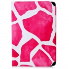 Stone Pattern PU Leather Stand Case with Suction Cup for 7 inch Tablet PC - Deep Pink + White
