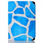 Stone Pattern PU Leather Stand Case with Suction Cups for 7 inch Tablet PC - Blue + White