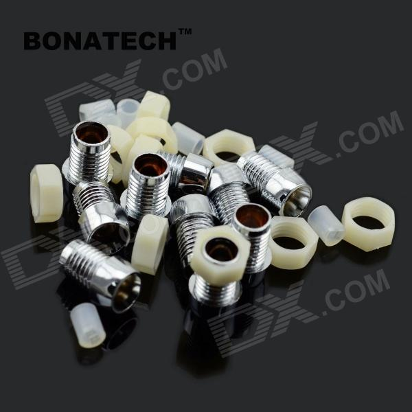 BONATECH 03120275 5mm Luminous Tube Seat Set - Silver + White (10 Set) gold plated banana plug jack connector set golden 3 5mm 10 pairs