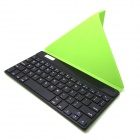 "BK169 9"" Bluetooth V3.0 65-Key Keyboard w/ Protective PU Leather Case - Green"