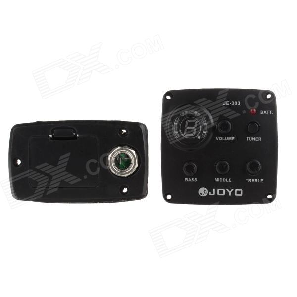 JOYO JE-303 Guitar 3-Band EQ Tuner Pickup Equalizer - Black belcat bass pickup 5 string humbucker double coil pickup guitar parts accessories black