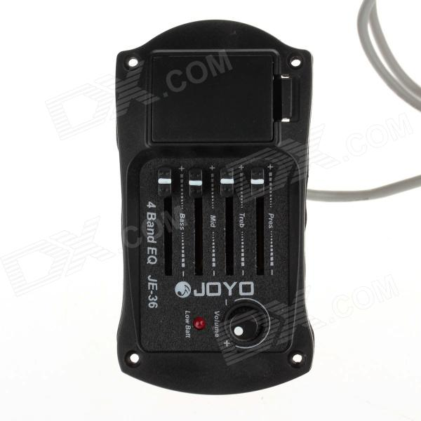 JOYO JE-36 Guitar 4-Band EQ Tuner Pickup Equalizer - Black belcat bass pickup 5 string humbucker double coil pickup guitar parts accessories black