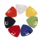 William A010A Plastic Guitar Pick Holders Set - White + Red + Multi-Colored ( 25 PCS)