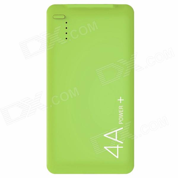 LASSIE L1 4000mAh USB Li-polymer Battery Mobile Power Bank - Green lassie l7 10000mah usb li polymer battery mobile power bank white