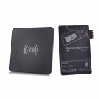 QI Mini Wireless Charger Pad w/ Wireless Charger Reciever for Samsung Galaxy Note 3 N9006 - Black