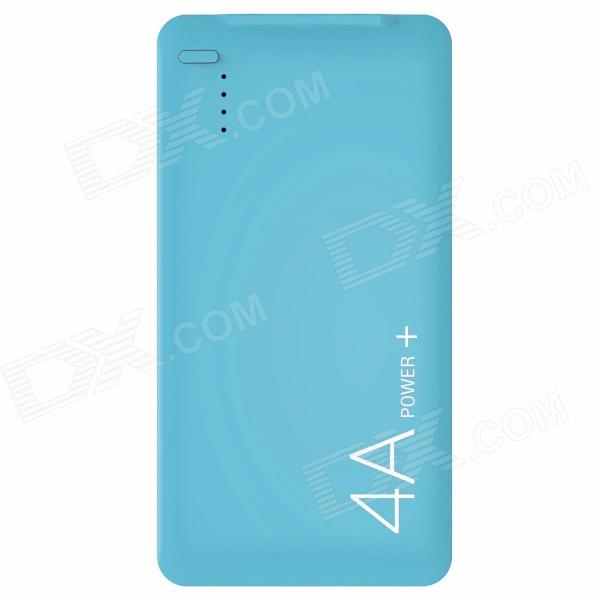 LASSIE L1 4000mAh USB Li-polymer Battery Mobile Power Bank - Blue lassie l7 10000mah usb li polymer battery mobile power bank white