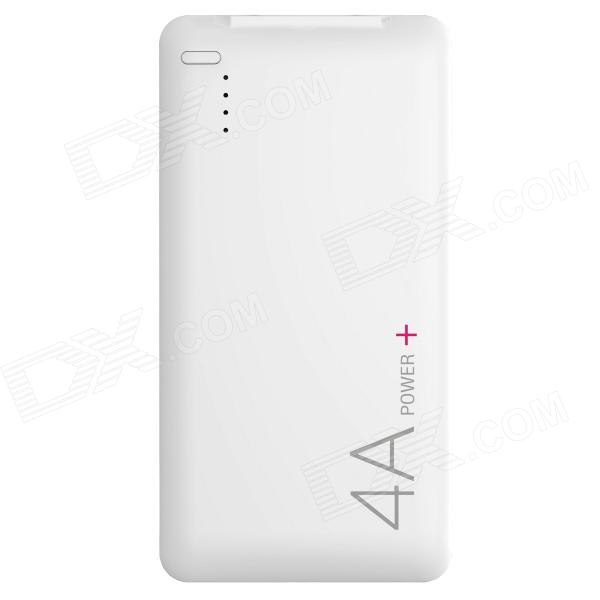 LASSIE L1 4000mAh USB Li-polymer battery Mobile Power Bank - White lassie l7 10000mah usb li polymer battery mobile power bank white