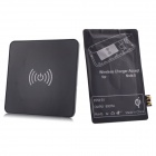 QI Mini Wireless Charger Pad w/ Wireless Charger Reciever for Samsung Galaxy Note 2 N7100 - Black